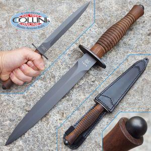 Fox - Fairbairn Sykes Fighting Knife - PVD Walnut - FX-592W - knife