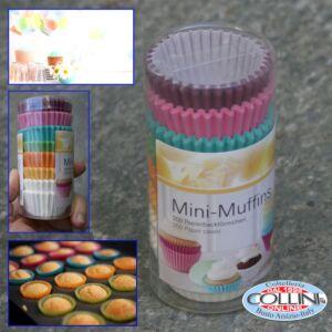 Birkmann - Set 200 mini pirottini colorati carta da forno per  mini muffins-cupcake