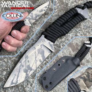 Wander Tactical - Raptor - Black Blood & Black Paracord - custom knife