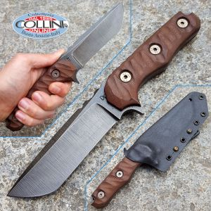 Wander Tactical - Lynx - Tanto Special Edition - Raw and Dark Brown Micarta - knife