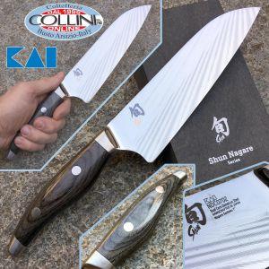 Kai Japan - Shun Nagare NDC-0702 Coreless Steel - Santoku knife 180mm. - kitchen knives