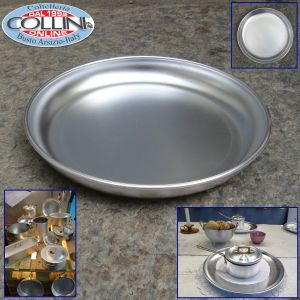 "Made in Italy -  Aluminum Platter, 22cm/8.7"", Silver"
