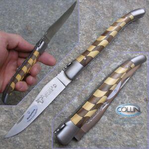 Laguiole En Aubrac - Damier - Bosso e Noce - coltello collezione