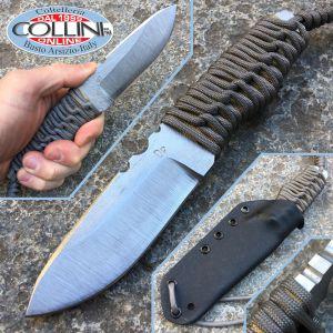 Wander Tactical - Scrambler - Satin SanMai Cos & Gray Paracord - custom knife