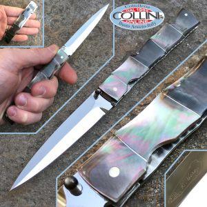 Koji Hara - Bamboo Motif - Dagger Gentleman in Madreperla - coltello artigianale