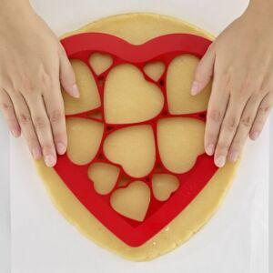 Lékué - Set cookie puzzle hearts (articoli casa)