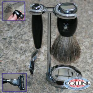 Muhle - Set da barba - 3 pz - colore nero MACH3