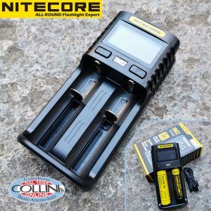 Nitecore - Superb Charger SC2 EU - Caricabatterie Universale Ultrarapido - per RCR123A, 18650, 14500, C, AA, AAA