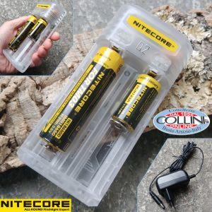 Nitecore - Q2 White - Caricabatterie Universale - per Li-ion e IMR 18650, 18350, RCR123A, 26650 e 14500
