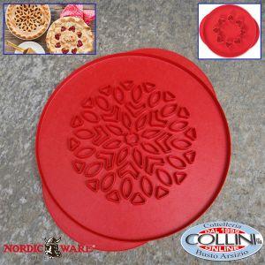 Nordic Ware - Griglia per torta - cuori e fiori reversibili - Heart / Flower Pie Top Cutter