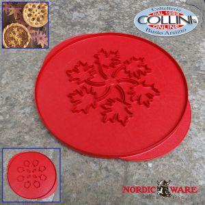 Nordic Ware - Griglia per torta - mele e foglie reversibili - Top Cutter Leaves & Apples
