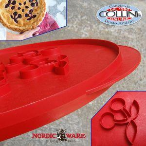 Nordic Ware - Griglia per torta - stelle e ciliege reversibili - Top cutters Stars & Cherries