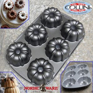 Nordic Ware - Stampo classic bundtlette cak pan 6 porzioni - tortiera