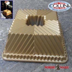 Nordic Ware - Stampo Ciambella Quadrata - Bundt square pan - Versione oro