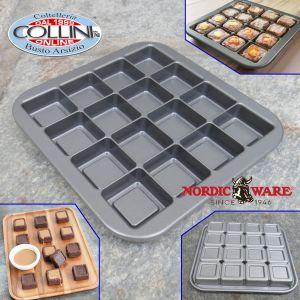 Nordic Ware - Stampo per brownies - 16 cavità