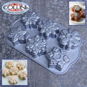 Nordic Ware - Stampo Frozen Snowflake 6 monoporzioni - Cakelet Pan