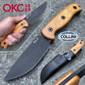 Ontario Ranger - Shank - Black Canvas Micarta coltello