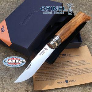 Opinel - n.8 - Betulla Lamellato Grigio Argento - lama inox - coltello