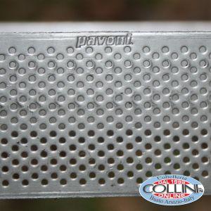 Pavoni - Fascia inox microforata quadrata cm. 19x19 cm. - PROGETTO CROSTATE