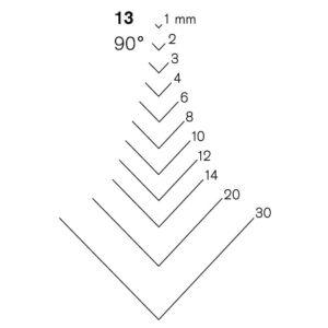 Pfeil - Scalpello n.13 taglio a V a 90°