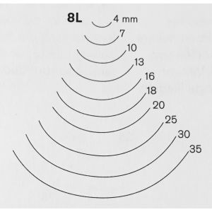 Pfeil - Sgorbia curva n.8L