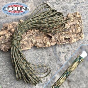 Original USA - Paracord Neon Green/Black - 15 metri - accessori coltelli