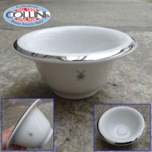 Muhle - Shaving bowl from MÜHLE, porcelain white, with platinum rim