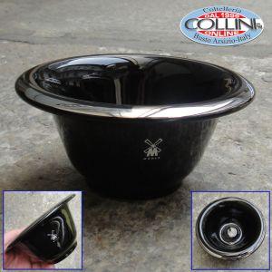 Muhle - Shaving bowl from MÜHLE, porcelain black, with platinum rim
