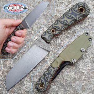 Simone Tonolli - IBEX Knife G10 Black - Coltello Artigianale