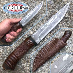 Takeshi Saji - Cha Hebi Hanta Pelle di Coccodrillo knife - Coltello Artigianale