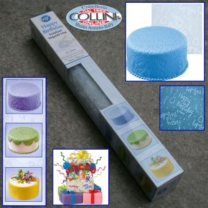 Wilton - Tappeto decorativo fondente Happy Birthday