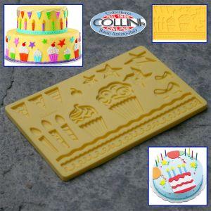 Wilton - Fondant and Gum Paste Mold - Disegno Muffin Party