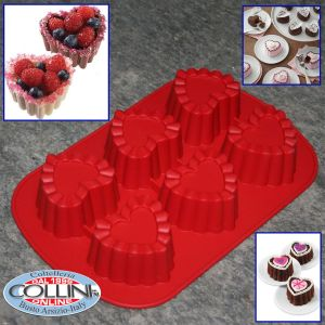 Wilton - Heart silicone molds