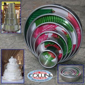 Decora - Set tortiere alluminio per wedding cake - 5 pezzi
