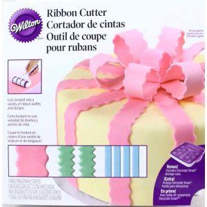 Wilton - Nuovo Ribbon Cutter- set mattarello decorativo deluxe - cake design