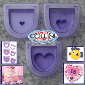 Wilton -  Cut and stamping to Heart
