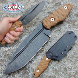 Wander Tactical - Freedom - Raw & Brown Micarta - coltello custom