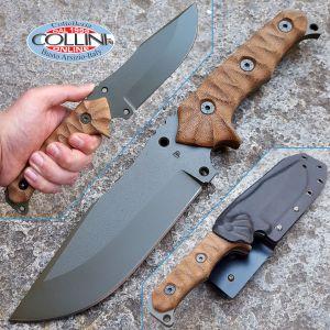 Wander Tactical - Haast Eagle - OD Green & Fire Micarta - coltello custom, knife, messer, cuchillo, couteau