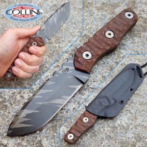 Wander Tactical - Scrambler - Ice Brush & Darkwood Micarta - coltello artigianale