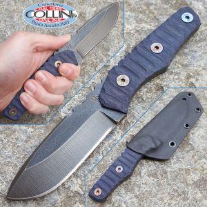 Wander Tactical - Scrambler - Raw Finish & Night Blue Micarta - coltello artigianale
