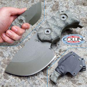 Wander Tactical - Tryceratops - OD Green & Green Micarta - coltello custom
