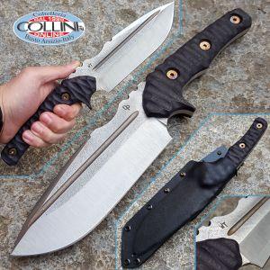 Wander Tactical - Uro - Satin SanMai CoS & Pitch Black Micarta - coltello artigianale