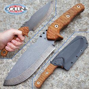 Wander Tactical - Uro Hunt - Raw Finish e Brown Micarta - coltello custom