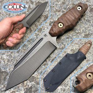 Wander Tactical - Apology - Raw Finish e Dark Wood Micarta - coltello custom