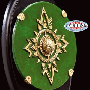 Weta Workshop - Spilla e Miniatura dello Scudo della Guardia Reale Rohirrim - Il Signore Degli Anelli