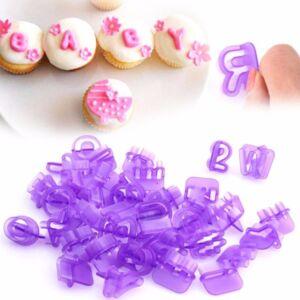 Wilton - Alphabet & Numbers Fondant Cut-Outs Set  - 40 pieces