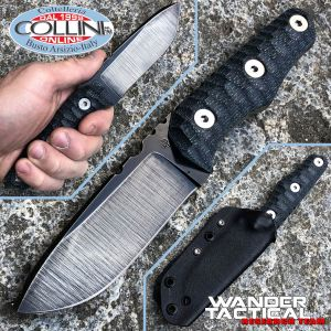 Wander Tactical - Scrambler - Raw Finish & Black Micarta - coltello artigianale