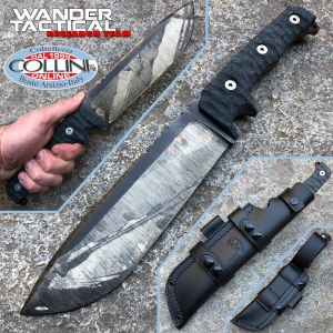 Wander Tactical - Dimorphodon - Raw Finish & Black Micarta - coltello artigianale