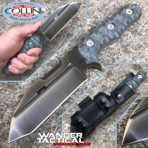 Wander Tactical - Hurricane knife Iron Washed and Black Micarta - coltello custom