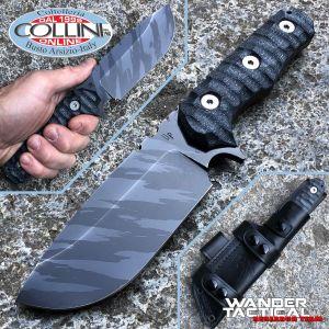 Wander Tactical - Lynx Knife - Ice Brush & Black Micarta - coltello custom